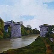 Old Severn Bridge Art Print