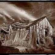 Old Shack Bodie Ghost Town Art Print