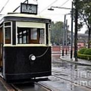 Old Shanghai Trolley Tram Car Rests In Tracks Art Print