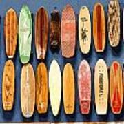Old Skateboards On Display Art Print