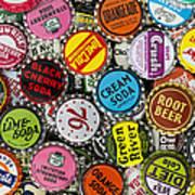 Old Soda Caps  Art Print by Tim Gainey