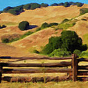 Old Split Rail Fence Print by Michael Pickett