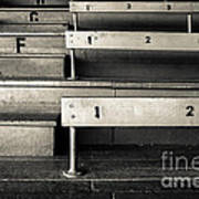 Old Stadium Bleachers Art Print