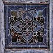 Old Stain Glass Window Art Print
