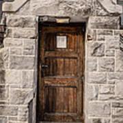 Old Stone Church Door Print by Edward Fielding