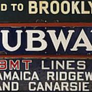 Old Subway Signs Art Print