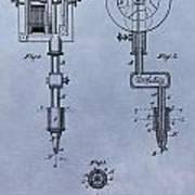 Old Tattoo Gun Patent Art Print