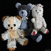 Old Teddy Bears Art Print