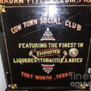 Old Texas Safe Art Print