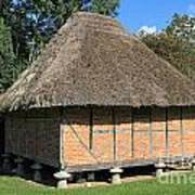 Old Thatched Barn Britain Art Print