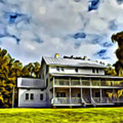 Old Thursby Plantation House Two Art Print