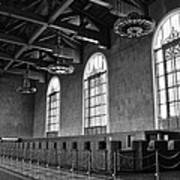 Old Ticket Counter At Los Angeles Union Station Art Print