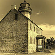 Old Time East Point Light Art Print