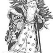 Old Time Santa With Violin Art Print