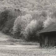 Old Tobacco Barn In Black And White Art Print