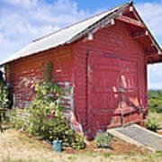 Old Tool Shed Red Barn Art Print