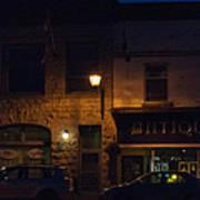 Old Town At Night Art Print