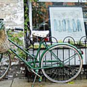 Old Town Bike Stop Art Print