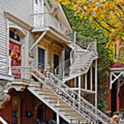 Old Town Chicago Living Art Print