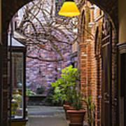 Old Town Courtyard In Victoria British Columbia Art Print by Ben and Raisa Gertsberg