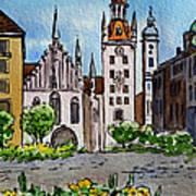 Old Town Hall Munich Germany Art Print