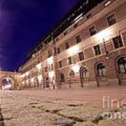 Old Town In Stockholm At Night Art Print