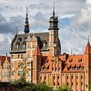 Old Town Of Gdansk In Poland Art Print