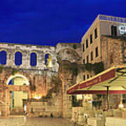 Old Town Of Split At Dusk Croatia Art Print