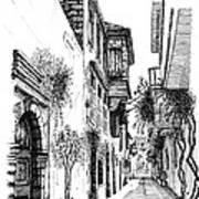 Old Town-rethymno Art Print