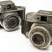 Old Toy Cameras Print by Amy Cicconi