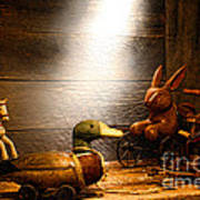 Old Toys In The Attic Art Print by Olivier Le Queinec