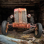 Old Tractor Face Art Print by Gary Heller