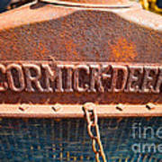Old Tractor Grille Art Print