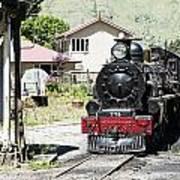 Old Train Engine Art Print