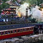 Old Train In The Village - Paranapiacaba Art Print