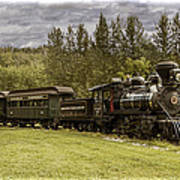 Old Train Steam Engine At The Fort Edmonton Park Art Print