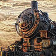 Old Train Still In Light Art Print