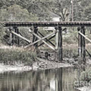 Old Train Trestle Art Print