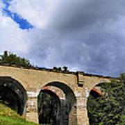 Old Train Viaduct In Poland Art Print