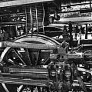 Old Train Wheel Art Print