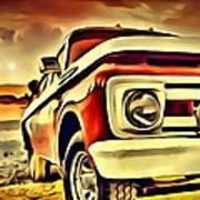 Old Truck Art Art Print