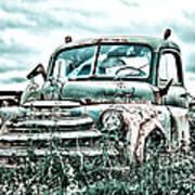 Old Truck - Cool Glaze Art Print