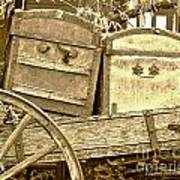 Old Trunks In Genoa Nevada Art Print