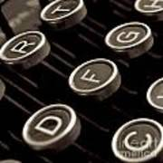 Old Typewriter Art Print by Bernard Jaubert