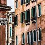 Old Venetian Walls. Italy Art Print