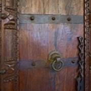 Old Vintage Door With Chain  Art Print