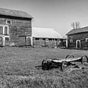 Old Wagon And Barns Art Print