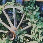 Old Wagon Wheel Art Print