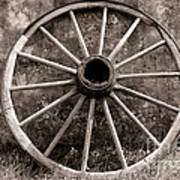 Old Wagon Wheel Art Print by Olivier Le Queinec