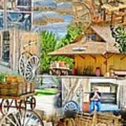 Old West Collage Art Print